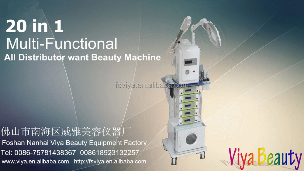 VY-1608A Hotsale 19 in 1 Multifunction Beauty salon Facial Machine