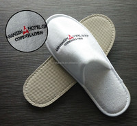 Denmark hot sale terry cloth hotel slippers with sponge heel