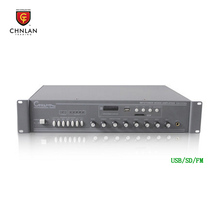 Chnlan made in china professional 6 zone SD FM USB sound stereo mixing amplifier