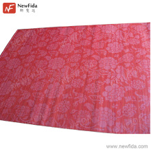 Trendy Flower Printed Waved Type Red Bamboo Commercial Room Dividers
