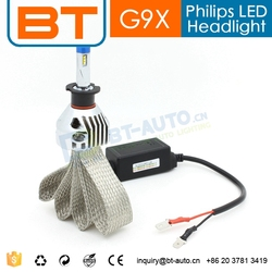 Patent Design Ultra-Bright Car 2000 lumen 2500 lumen H3 LED Headlight Bulbs