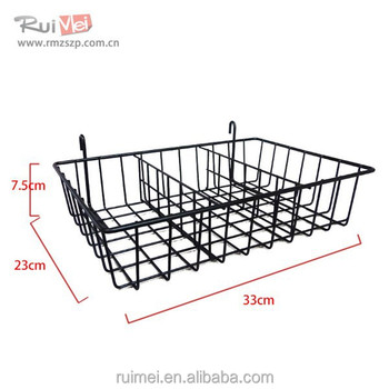 Customized design metal wire peg basket