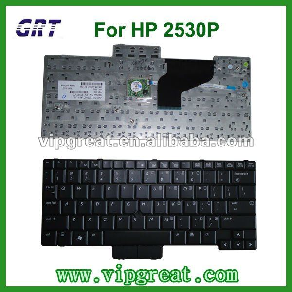 laptop keyboard for HP Elitebook 2530P US layout black