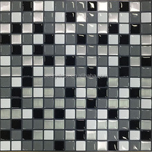 Easy apply super sticky clever mosaic tile sticker black white square 25 x 25cm