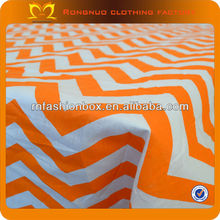 High quality 100*150CM orange cotton fabric geometric print clothing fabric