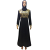 Wholesale Black Maxi Islamic Muslim Clothing Abaya Dubai Model Dress for Women