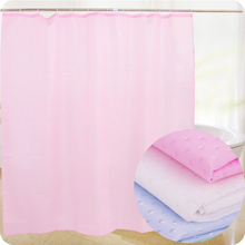 100% Polyester Textile Diamonds Jacquard Fabric Shower Curtain