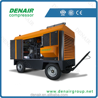 Diesel mobile screw air compressor for sale China manufacturer