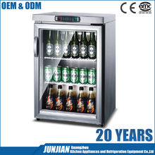 Welbas Professional Stainless Steel Beverage display counter-top Cooler electric back bar cooler