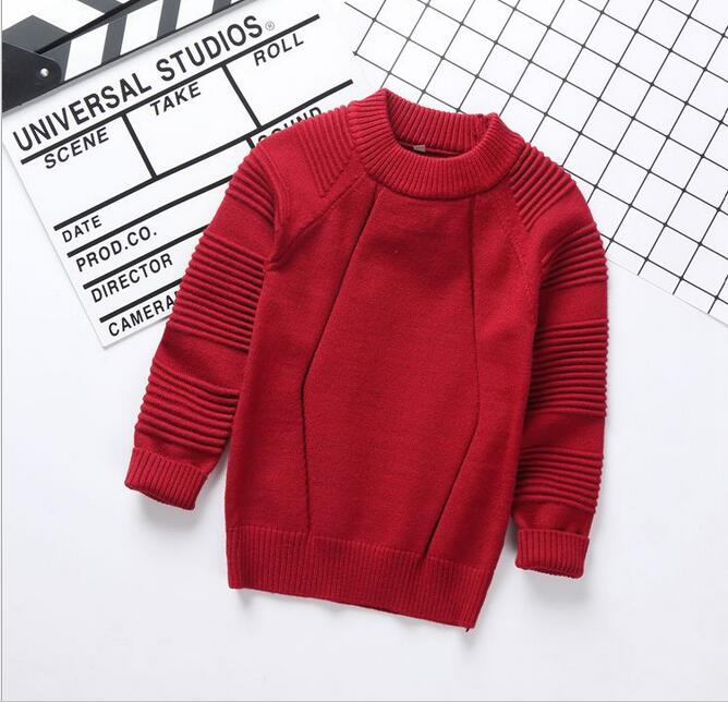2017 Winter pullover sweater designs for kids , boy long sleeve knit pullover sweater