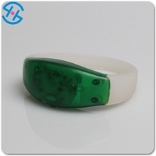 Latest Design Motion Sensor LED Flashing Silicon Wristbands LED Sound sensor Party Concert Bracelets