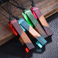 2017 Fashion Wooden Resin Necklace Retro