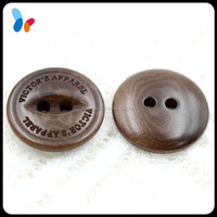 laser engraved fish eyes nature corozo nut button with two holes