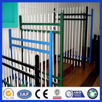 DM Powder coated Countyard and garden protection high security Zinc Steel Fence and fence gate
