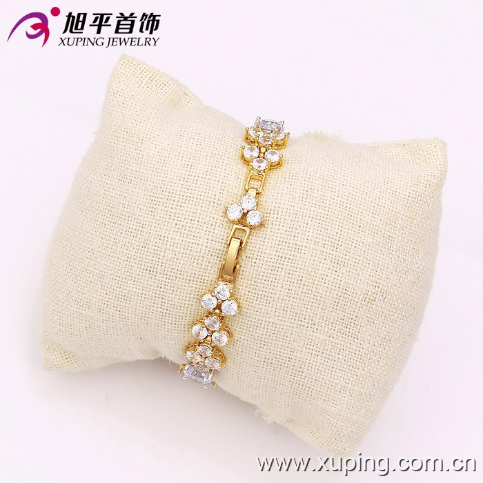 XUPING Luxury CZ Bracelets multicolor Bracelets & Bangles Femme Bridal Wedding Jewelry for Women 73532
