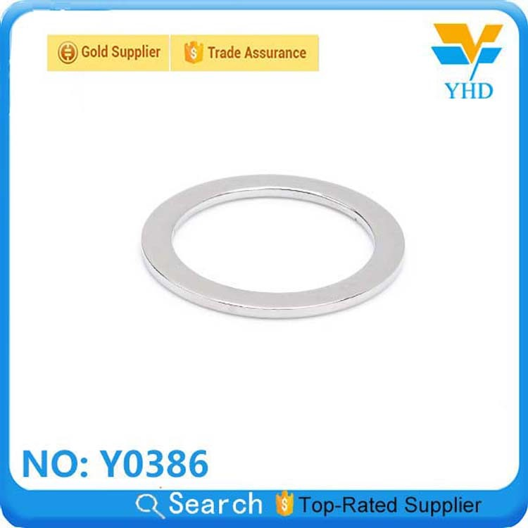 Highly Polished Shining Nickel Metal D Ring