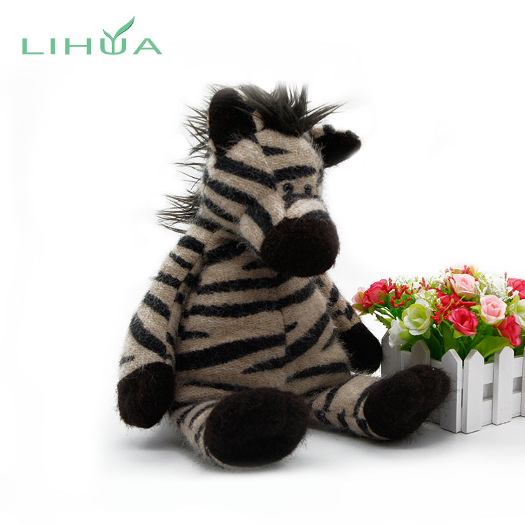 Girls Zebra Horse Animal Stuffed Toy From China Manufacture