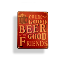 China Factory Directly Supply Wholesale aluminum sign plate Beer Alcohol Nostalgic metal plain tin sign