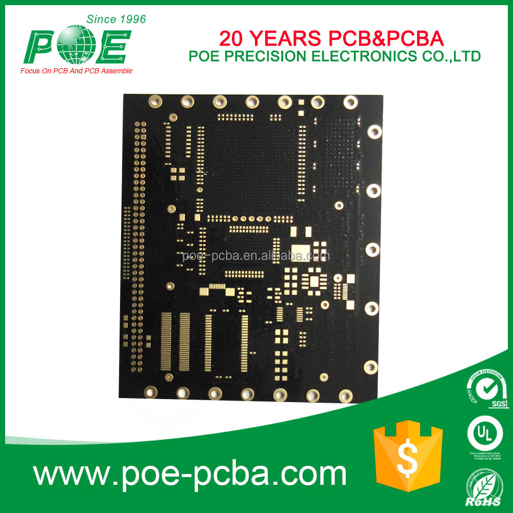4 Layer Copper Plugging Vias OEM FR4 Multilayer PCB