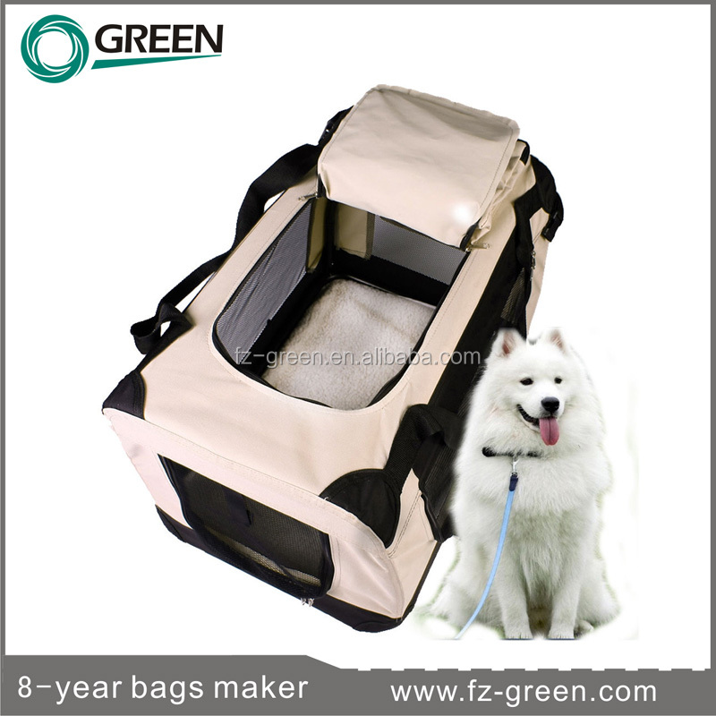new big pet cat dog bag Portable Soft cage travel folding carrier
