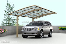 Polycarbonate PC Sheet Board Aluminum Frame Single Carport Shelter