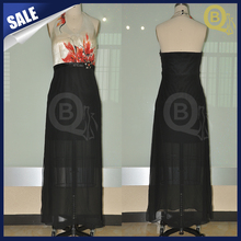 Wholesale Woman's Elegent Chiffon Hand-Painted Sexy Evening Dresses