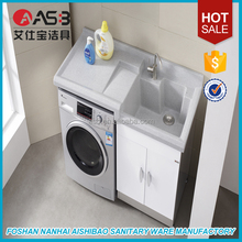 Asian style 2016 foshan laundry wash machine bathroom vanity cabinet