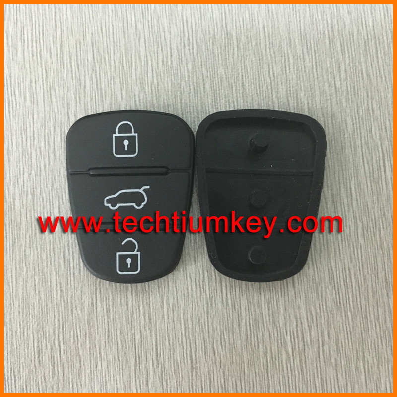 Shenzhen car keys wholesale supplier For Hyundai 3 button remote button rubber key pad
