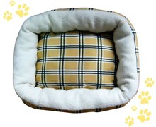 Wholesale luxury printed fabric soft pet bed for dog
