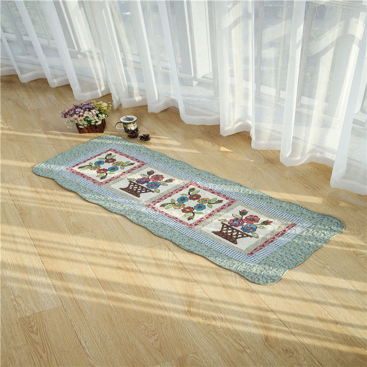 Plain 100% Cotton Matting Canvas Fabric floor mat