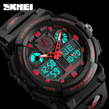 Hot G Style Military Wrist Watches Men Dual Time Quartz Led Luminous Clock 50m Waterproof Sports Analog Digital Skmei 1270 Watch