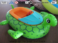 Huaitong durable inflatable duck theme boat and water park sport floating toys for sale