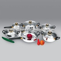 12 pcs stainless steel cookware