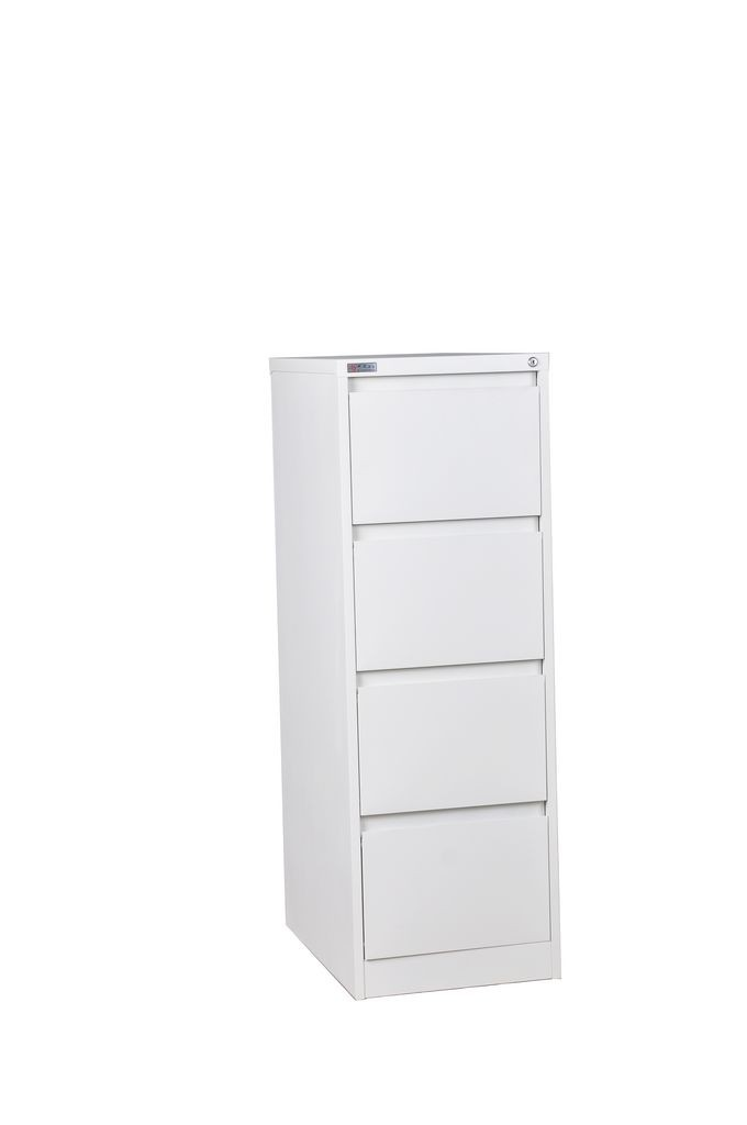 Knocked down high quality prevent fall down 4 drawer steel filing storage cabinet