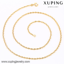 41804 Xuping simple latest design gold women chain necklace