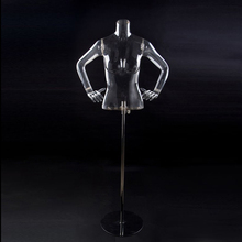 female Torso mannequin/model with metal holder /base