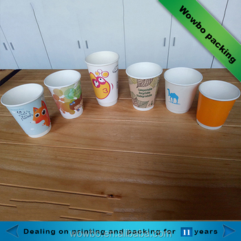 8oz 10oz 12oz 16oz double wall paper cups with plastic cover