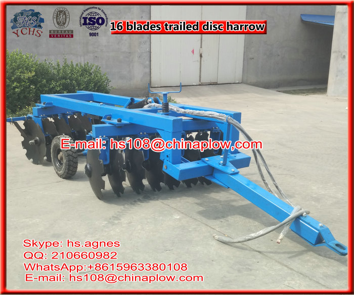 Farm machinery trailed hydraulic heavy duty disc harrow for sale