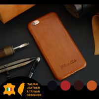 Handmade Italian Vegetable Tanned Genuine Leather phone case for iPHONE6 6S