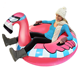PVC Inflatable Flamingo Drable Air Snow Tube Sled Winter Snow Tube /Snow Float For Outdoor Games Sledding Tubes