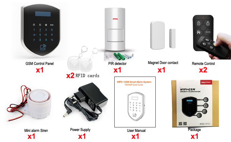 3G wifi wireless home einbrecher sicherheit alarm system