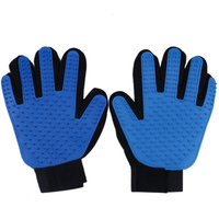 Hot Selling Five Finger Pet Grooming Deshedding Glove For Dog And Cats