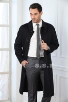 factory wholesale cool style 100% cashmere long coats for men