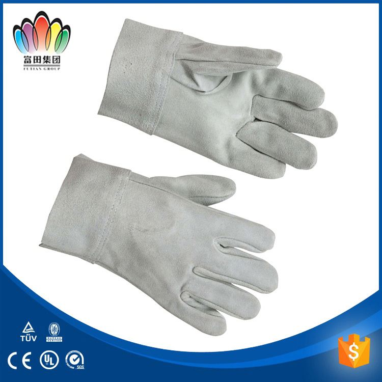 leather welding work glove reinforced calf skin gloves