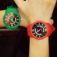 Elegance big watch face sbao quartz jelly watch for kids