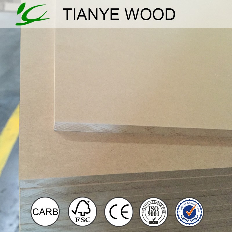 Cheap price standard size raw hdf wood provide by the hdf borad company