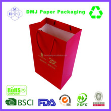 China supplier new design beautiful colorful paper wine carry paper bag with handle