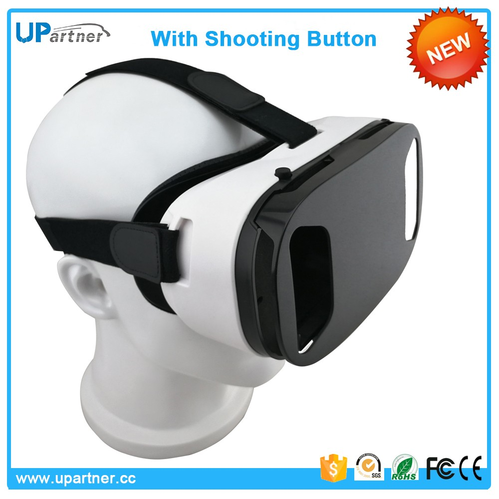 Upartner High Quality 2017 Newest 2016 New Free China Xxx Video/Xxxx Movies 3D Vr Glasses Box Vr Headset With Shooting Button