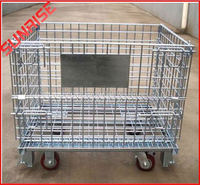 foldable galvanized collapsible steel crates