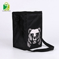 High quality portable recyclable non woven polyester insulated camping cooler bag
